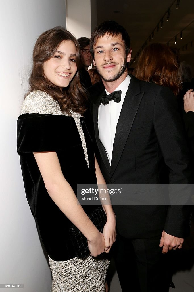 Alma Jodorowski and Gaspard Ulliel attend the 'No5 Culture Chanel' Exhibition - Photocall at Palais De Tokyo on May 3, 2013 in Paris, France.