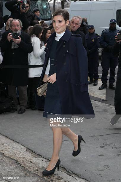 Alma Jodorowski arrives to attend the 'Chanel' fashion show on January 27 2015 in Paris France