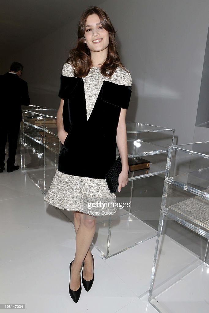 Alma Jodorowski attends the 'No5 Culture Chanel' Exhibition - Photocall at Palais De Tokyo on May 3, 2013 in Paris, France.
