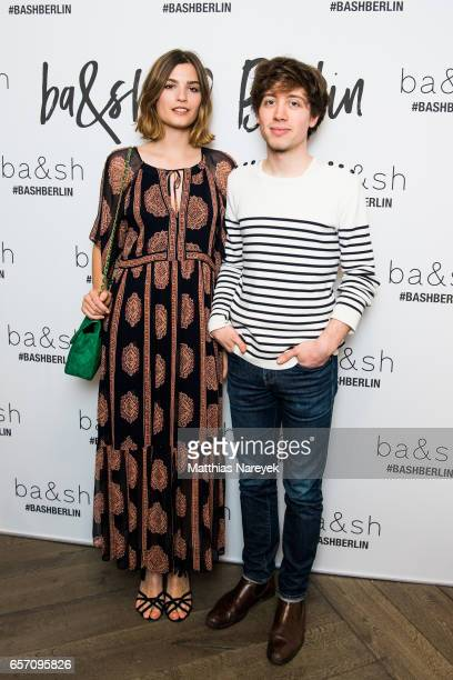 Alma Jodorowsky and David Baudart of the band Burning Paecocks attend the BaSh store opening on March 23 2017 in Berlin Germany