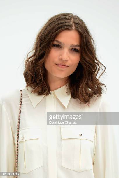 Alma Jodorowsky attends at Chanel show as part of Paris Fashion Week Haute Couture Fall/Winter 20142015 at Grand Palais on July 8 2014 in Paris France