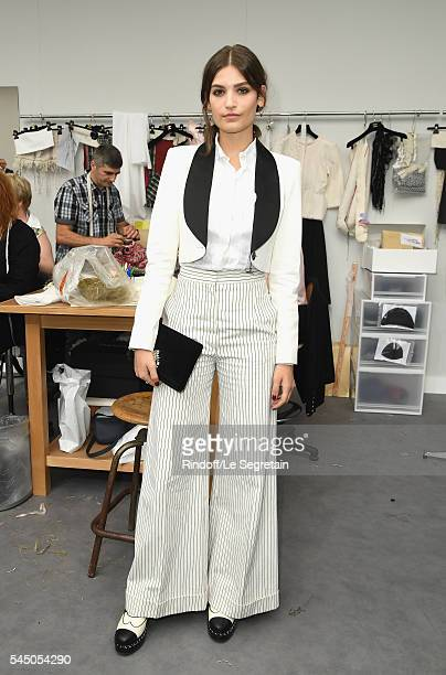 Alma Jodorowsky attends the Chanel Haute Couture Fall/Winter 20162017 show as part of Paris Fashion Week on July 5 2016 in Paris France