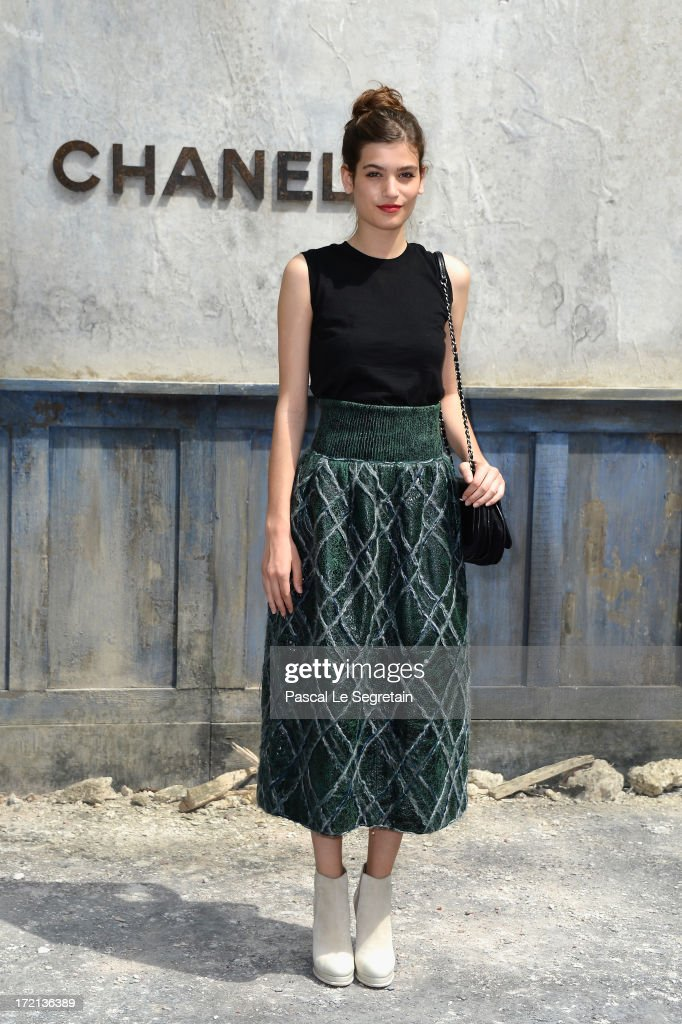 Alma Jodorowsky attends the Chanel show as part of Paris Fashion Week Haute-Couture Fall/Winter 2013-2014 at Grand Palais on July 2, 2013 in Paris, France.