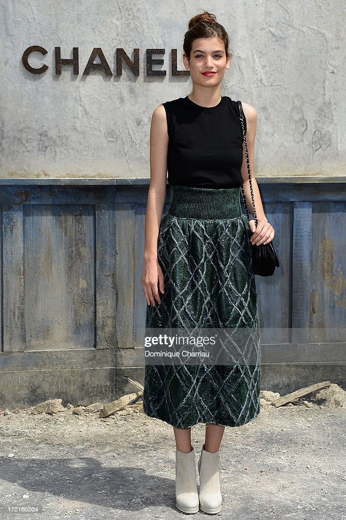 Alma Jodorowsky attends the Chanel show as part of Paris Fashion Week Haute Couture Fall/Winter 2013-2014 at Grand Palais on July 2, 2013 in Paris, France.
