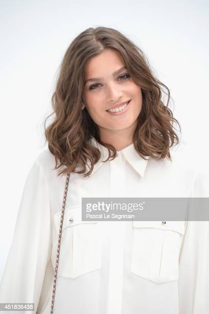 Alma Jodorowsky attends the Chanel show as part of Paris Fashion Week Haute Couture Fall/Winter 20142015 at Grand Palais on July 8 2014 in Paris...