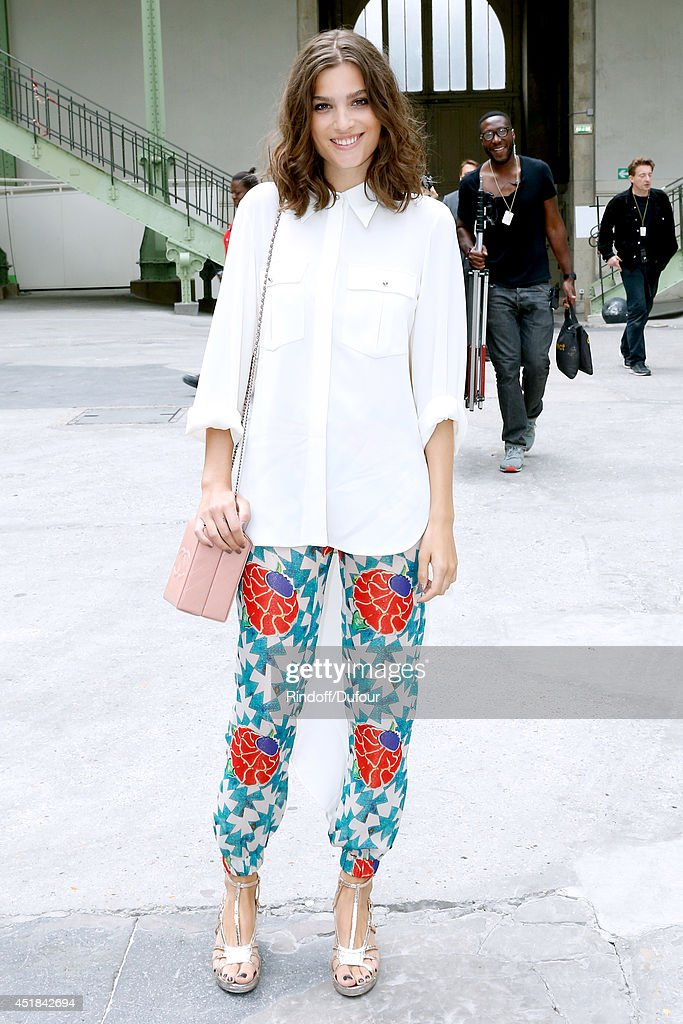 <a gi-track='captionPersonalityLinkClicked' href=/galleries/search?phrase=Alma+Jodorowsky&family=editorial&specificpeople=8793991 ng-click='$event.stopPropagation()'>Alma Jodorowsky</a> attends the Chanel show as part of Paris Fashion Week - Haute Couture Fall/Winter 2014-2015. Held at Grand Palais on July 8, 2014 in Paris, France.