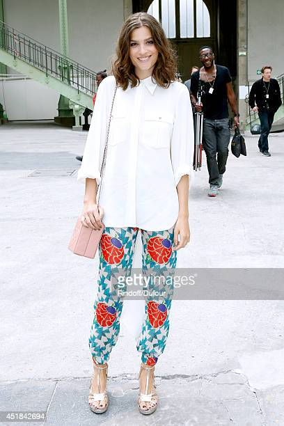Alma Jodorowsky attends the Chanel show as part of Paris Fashion Week Haute Couture Fall/Winter 20142015 Held at Grand Palais on July 8 2014 in Paris...