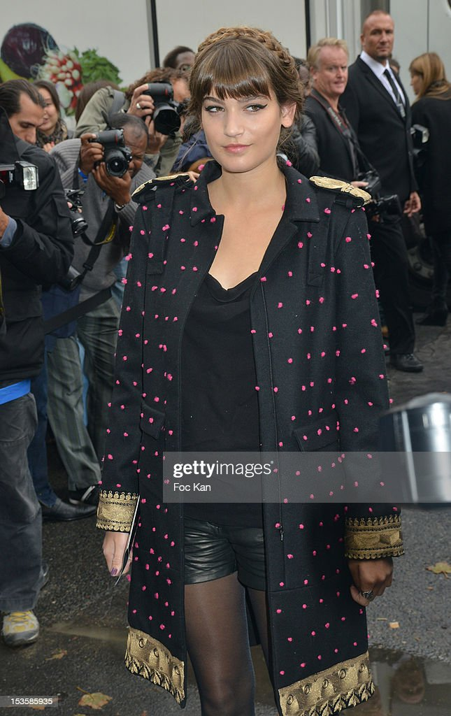 Alma Jodorowsky attends the Chanel Spring / Summer 2013 show as part of Paris Fashion Week at the Grand Palais on October 2, 2012 in Paris, France.