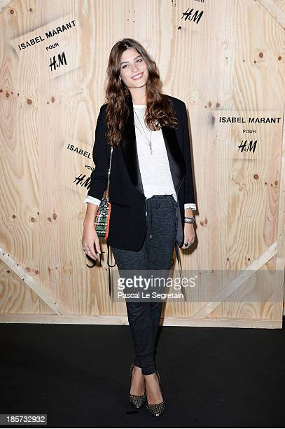 Alma Jodorowsky attends the 'Isabel Marant For HM' Photocall at Tennis Club De Paris on October 24 2013 in Paris France