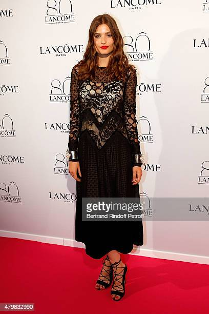 Alma Jodorowsky attends the Lancome 80th anniversary party as part of Paris Fashion Week Haute Couture Fall/Winter 2015/2016 on July 7 2015 in Paris...