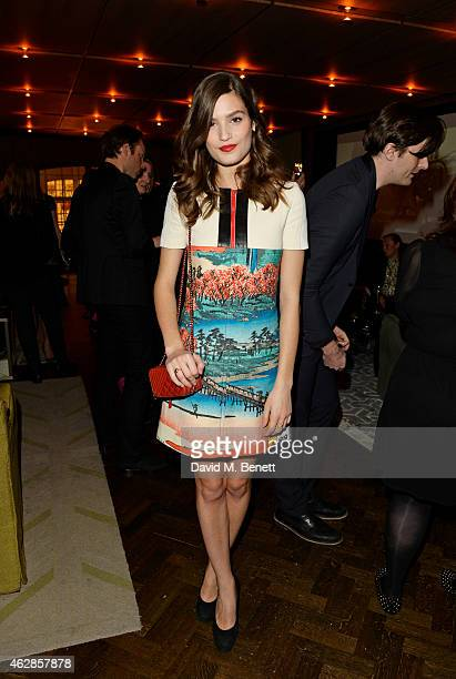 Alma Jodorowsky attends the Lancome Loves Alma PreBAFTA party at Cafe Royal on February 6 2015 in London England