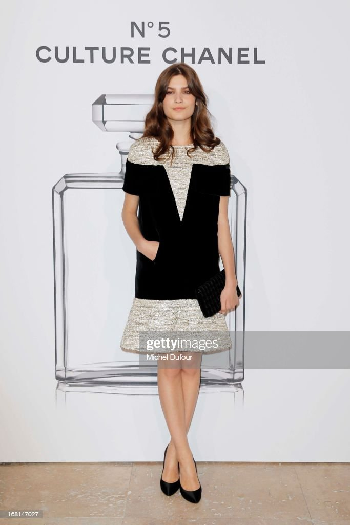 Alma Jodorowsky attends the 'No5 Culture Chanel' Exhibition - Photocall at Palais De Tokyo on May 3, 2013 in Paris, France.
