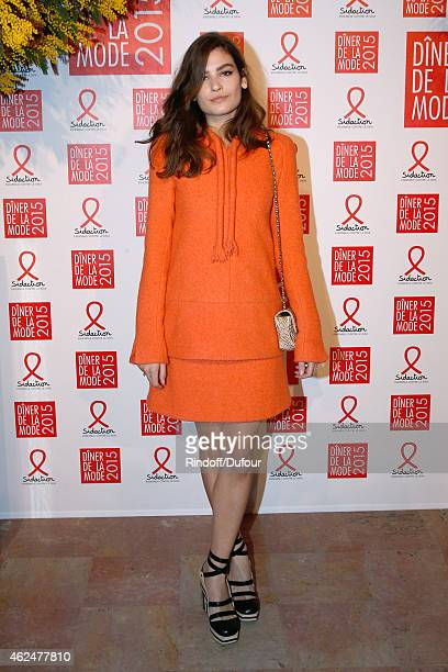 Alma Jodorowsky attends the Sidaction Gala Dinner 2015 at Pavillon d'Armenonville on January 29 2015 in Paris France