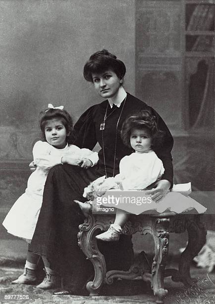Alma Mahler and her daughters Maria and Anna Mahler Photograph 1906