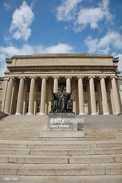 Alma Mater, sculpture on steps of Low Memorial Library, Columbia University, Upper West Side, New York, NY, U.S.A.