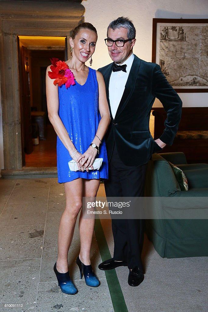 Alma Muratovic and Giorgio Guidotti attend Roberto Scio' birthday Party at La Posta Vecchia on February 13, 2016 in Paolo Laziale, near Rome, Italy.
