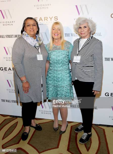 Alma Ordaz Visionary Women Executive Board Member and Mayor of Beverly Hills Lili Bosse and Carolina Tomkinson attend the Visionary Women's Salon...