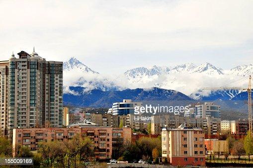 Almaty skyline