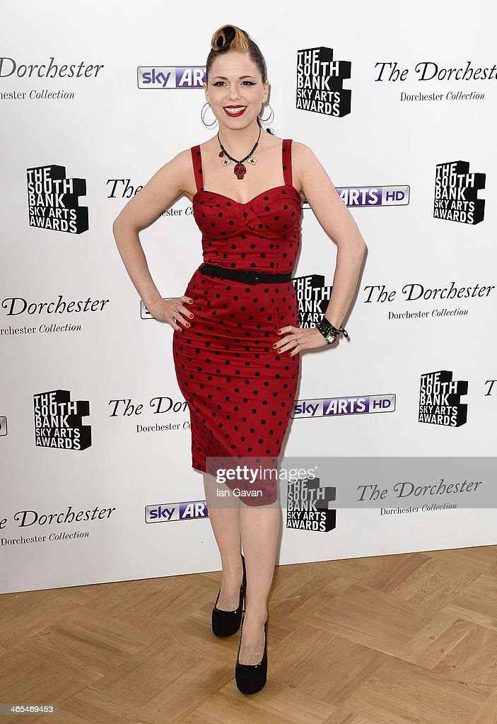 Almelda May during the South Bank Sky Arts awards at the Dorchester Hotel on January 27, 2014 in London, England.