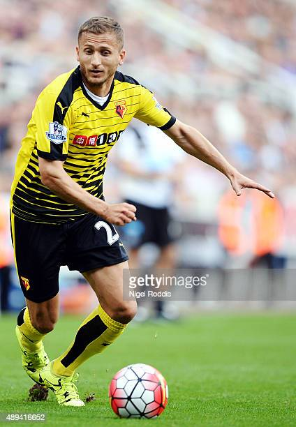 Almen Abdi of Watford during the Barclays Premier League match between Newcastle United and Watford on September 19 2015 in Newcastle upon Tyne...
