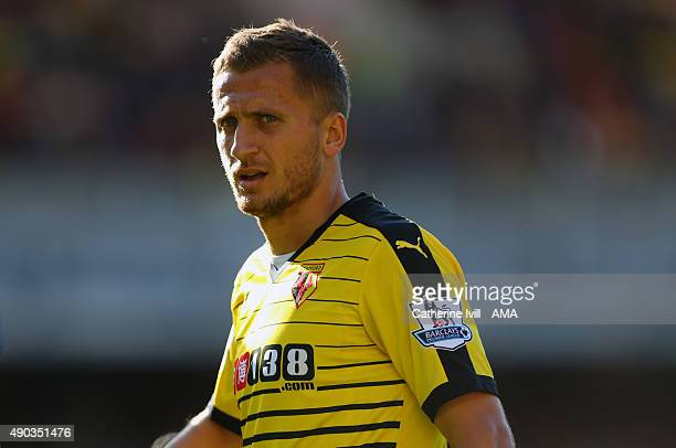 Almen Abdi of Watford during the Barclays Premier League match between Watford and Crystal Palace at Vicarage Road on September 27 2015 in Watford...