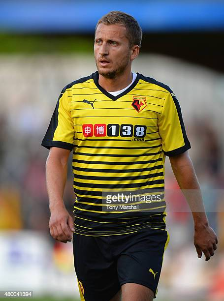 Almen Abdi of Watford during the Pre Season Friendly match between St Albans City and Watford at Clarence Park on July 8 2015 in St Albans England
