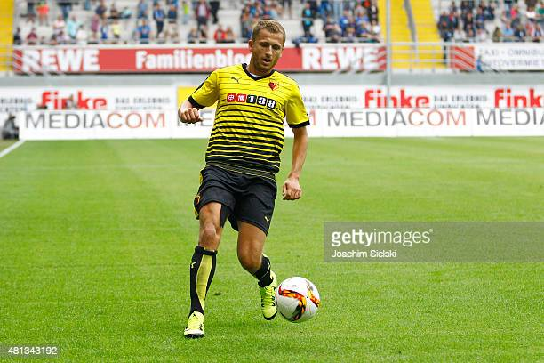 Almen Abdi of Watford during the preseason friendly match between SC Paderborn and Watford FC at Benteler Arena on July 19 2015 in Paderborn Germany