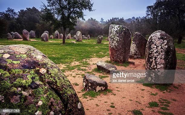 Almendres Cromlech, Megaliths, Evora, Portugal