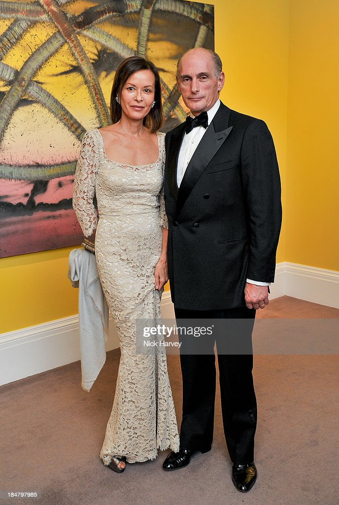 Almine Rech and Bernard Ruiz-Picasso attend Mimi Foundation 'The Power of Love' gala dinner and auction at Sotheby's on October 16, 2013 in London, England.