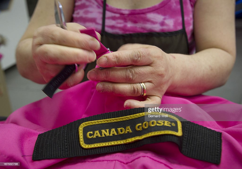 Almirinda de Sousa 10 year employee at Canada Goose cleans up and inspects and cleans up coats at the main factory