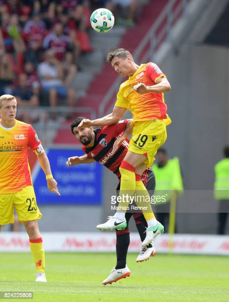 Almog Cohen of FC Ingolstadt 04 and Damir Kreilach of 1 FC Union Berlin during the game between FC Ingolstadt and Union Berlin on july 29 2017 in...