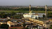 Al-Mogran Mosque at al-Mogran, Khartoum, Sudan.