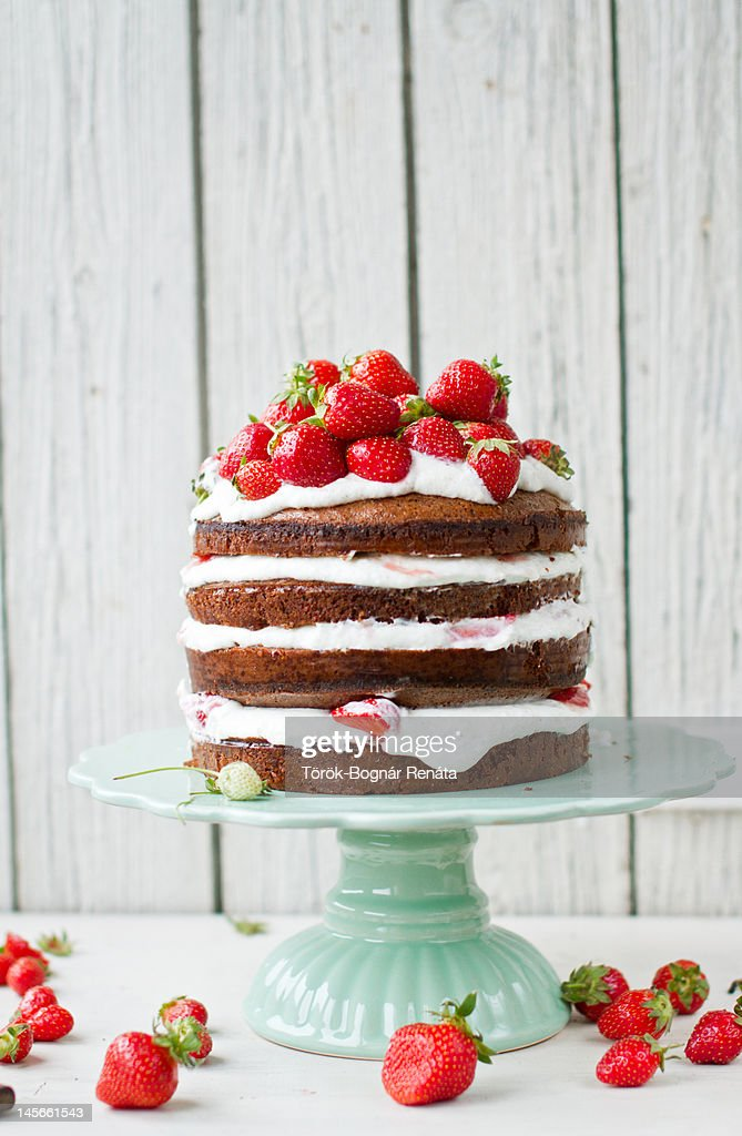 Almond and yogurt layer cake : Stock Photo