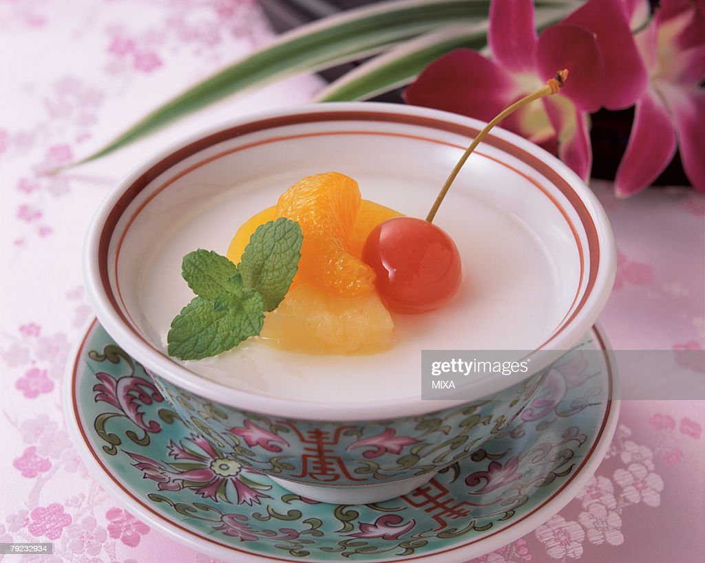 Almond Jelly : Stock Photo