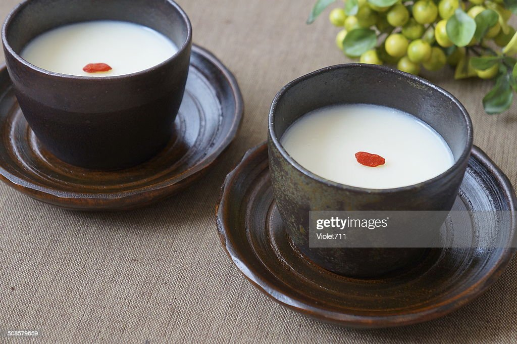 Almond Jelly, traditionelle chinesische dessert. : Stock-Foto