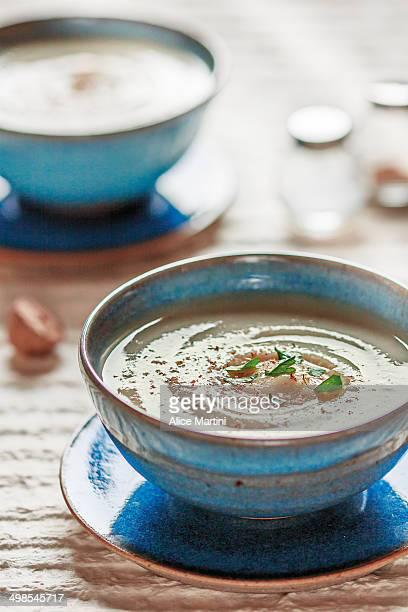 Almond milk vegan vichyssoise