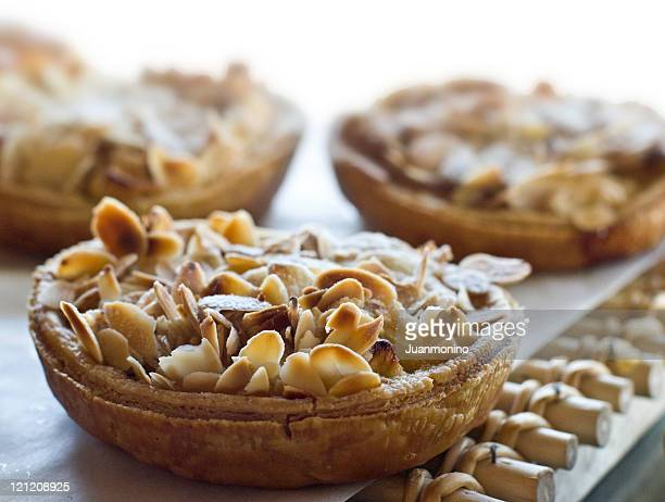 Almonds Apple Tart in a display window