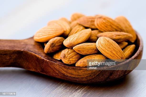 Almonds in a spoon