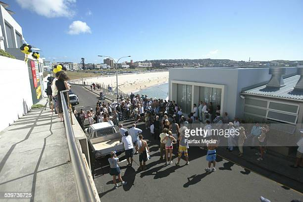 Almost 200 people look on during the auction of 12 Notts Avenue at Bondi Beach which sold for $352 million 25 February 2006 SHD Picture by DANIELLE...