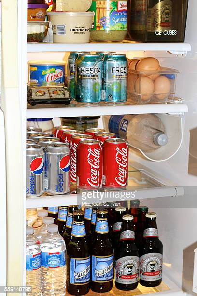 Almost party time The refrigerator of the parents of the bridetobe stocked to accommodate out of town guests