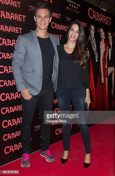 Almudena Cid and Christian Galvez attend the 'Cabaret Broadway Musical' photocall at Rialto theatre on October 8 2015 in Madrid Spain