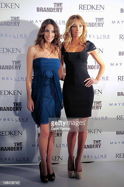 Almudena Cid and Orsi Feher pose for the photographers during 'The Brandery' January 27 2011 in Barcelona Spain