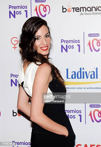 Almudena Cid attends a photocall for the 'Numeros 1 de la Cadena 100' awards held at the Museu Nacional d'Art de Catalunya on May 28 2015 in...