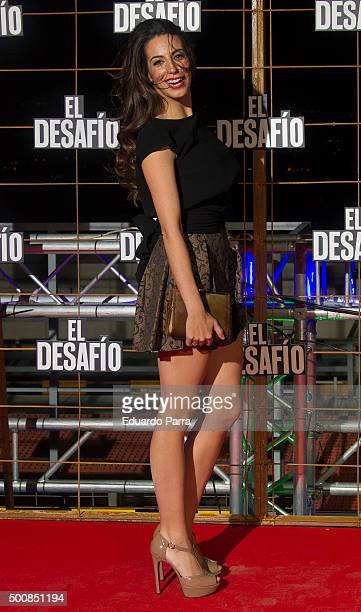 Almudena Cid attends 'El desafio' premiere at Picasso tower on December 10 2015 in Madrid Spain