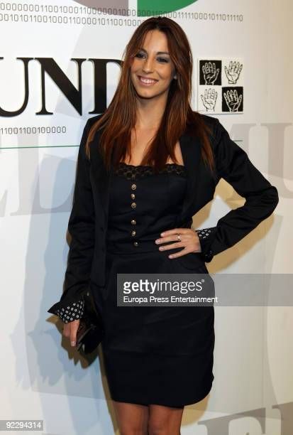 Almudena Cid attends 'El Mundo' Newspaper's 20th Anniversary party on October 22 2009 in Madrid Spain