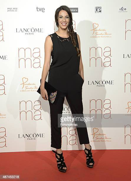 Almudena Cid attends the 'Ma Ma' Premiere at the Capitol Cinema on September 9 2015 in Madrid Spain