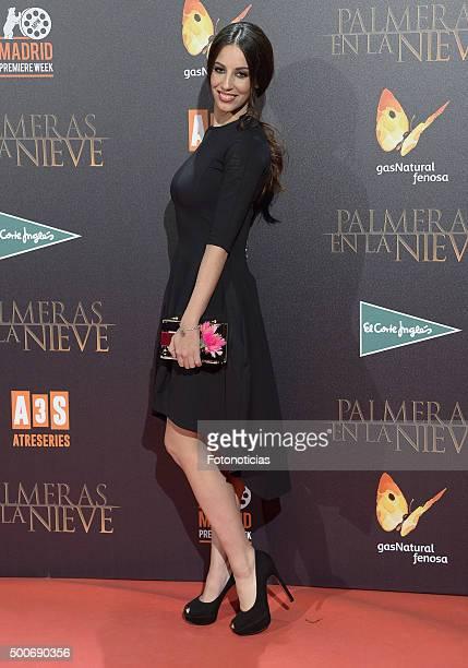 Almudena Cid attends the 'Palmeras en la Nieve' Premiere at Kinepolis Cinema on December 9 2015 in Madrid Spain