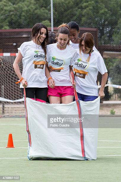 Almudena Cid presents the new 'Delial UV Sport' product at Urban Camp on June 12 2015 in Madrid Spain