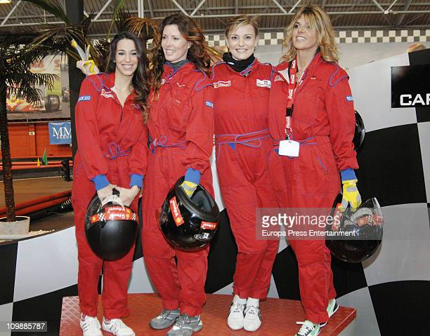 Almudena Cid Veronica Mengod Coral Bistuer and Arantxa de Benito attend '125 Tour For Women Equal Opportunities' at Carlos Sainz Circuit on March 8...