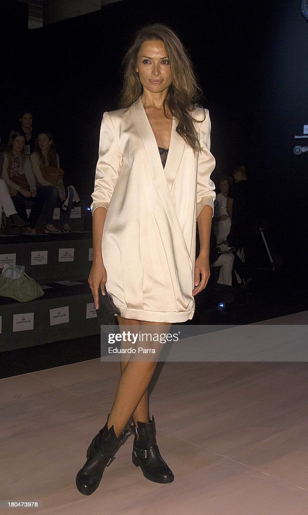 Almudena Fernandez attends a fashion show during the Mercedes Benz Fashion Week Madrid Spring/Summer 2014 on September 13, 2013 in Madrid, Spain.